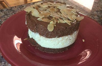 Entremets au chocolat cœur  de guimauve