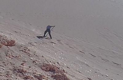 [Photo] Un métier insoupçonné : balayeur de dune !