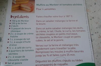 Muffins morbier tomates sechées