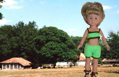 Camille en vacances dans les Landes