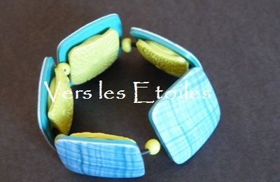 "Bracelet couleur ""Madras"" recto / verso"