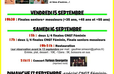 Programme week-end 15/17 septembre