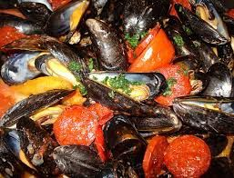 Moules sauce chorizo