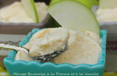Mousse Bavaroise à la Pomme et à la Vanille Bleue