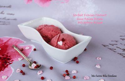 Sorbet Fraise et Yaourt aux Baies Roses#Octobre rose