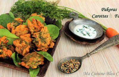 Pakoras Carottes et Fanes - Beignets à l'Indienne -