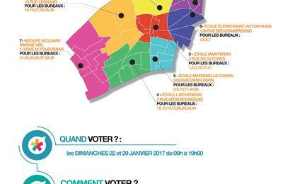 Primaires citoyennes à Colombes : votre bureau de vote des 22 et 29 janvier 2017