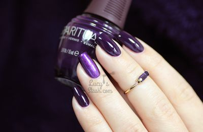 Dark purples on my nails with SpaRitual polishes!