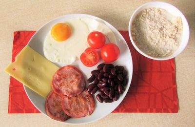 Porridge salé comme un brunch salé