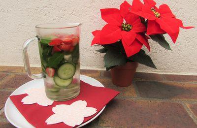 Detox water (fraise, concombre & menthe)