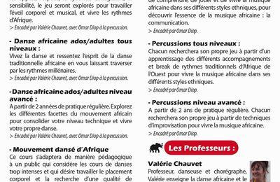 Cours de danses et percussions africaines à Poitiers