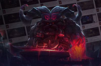 League of legends : ORNN  DIEU DE LA FORGE VOLCANIQUE se présente un peu plus