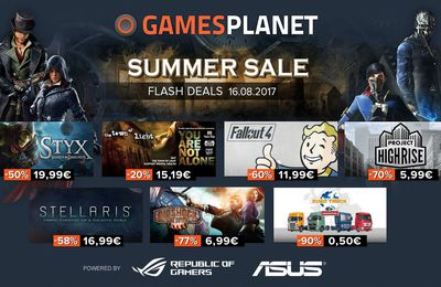 [SOLDE FLASH 16/08 STEAM] GAMESPLANET