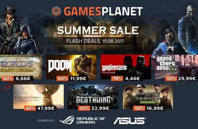 [SOLDE FLASH 15/08 STEAM] GAMESPLANET