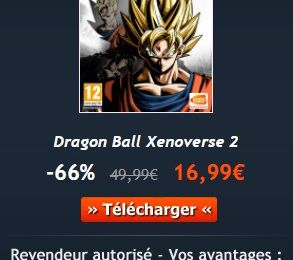 [VENTE FLASH GAMESPLANET] Dragon Ball Xenoverse 2