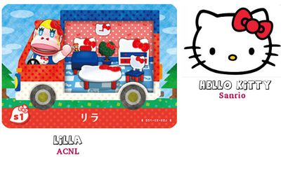 Les 6 cartes Sanrio (exclusivité Japon) :