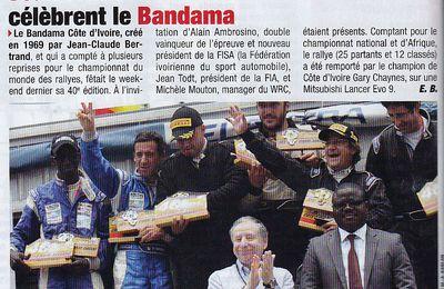 Jean Todt & Michèle Mouton célèbrent le Bandama.....