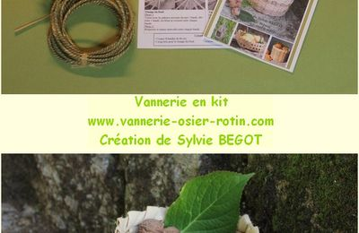 DIY Corbeille vannerie en kit