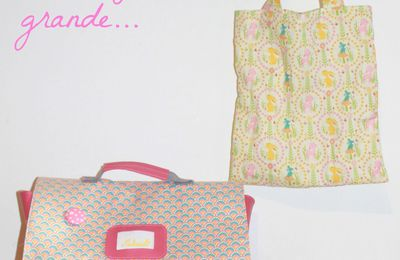 # Doudou, cartable et tote bag ...