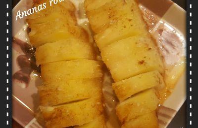 Ananas rôti au miel