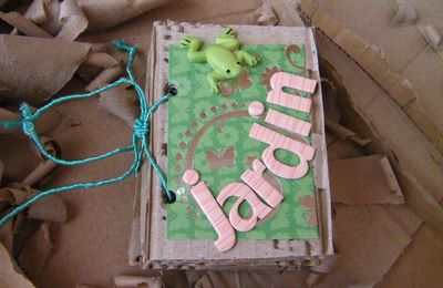 Scrap Mini Album Jardin