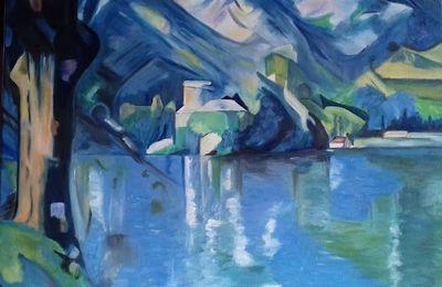lac d'Annecy d'après Cézanne