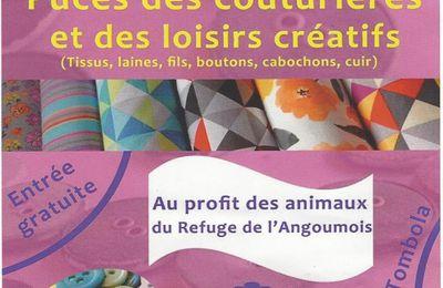 Puces des couturières à Mornac (16) : dimanche 1er octobre 2017
