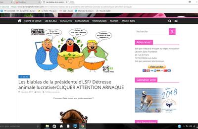 Droit de réponse à Mme Odile Brochot auteur des blablas du mardi et présidente Lévriers sans Frontières