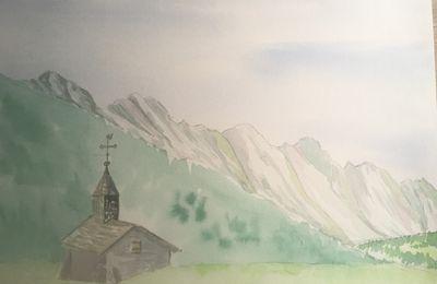 La Chapelle de la Duche, vue sur les Aravis