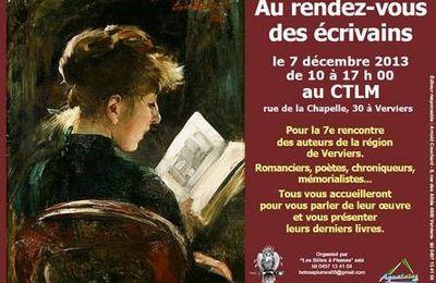7ème rendez-vous des écrivains à Verviers