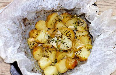 Pommes de terre aux herbes en papillote(s)