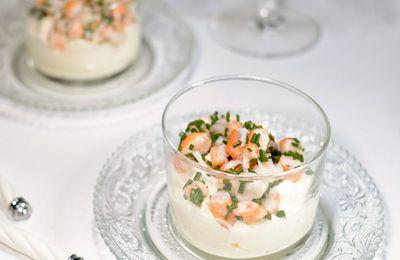 Émulsion d'huile citronnée et tartare de crevettes (l'apéritif de l'été !)