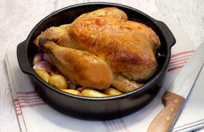 Poulet aux 40 gousses d'ail et trucs de cuisson pour un poulet parfait