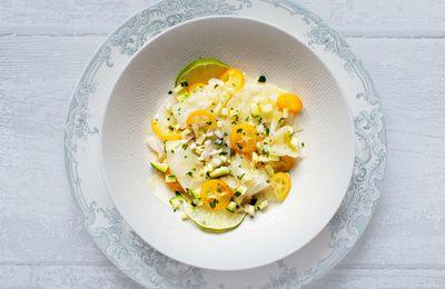 Salade de céleri-rave aux kumquats, vinaigrette à l'orange