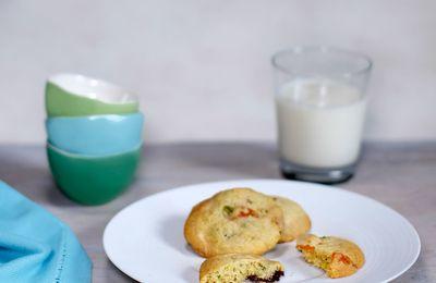 Cookies aux 2 chocolats, abricots et pistaches