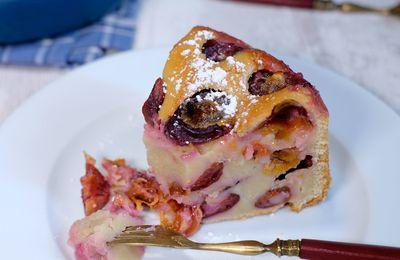 Gâteau-flan aux quetsches et au gingembre et cannelle