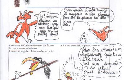 le Corbeau et le Renard en bande dessinée