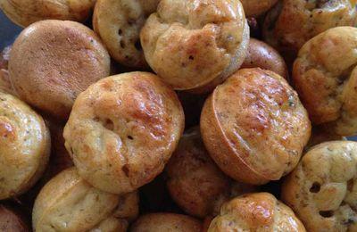 Cake / bouchées champignons à l'huile de truffe