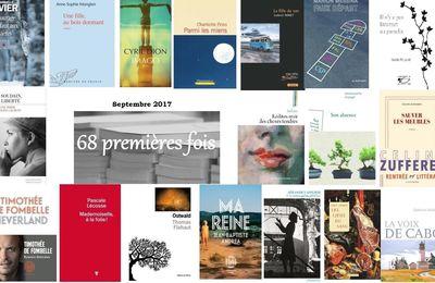 68 premières fois - La sélection automne 2017