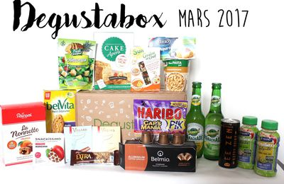 What's in the Degustabox ? Mars 2017