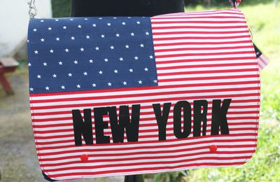 Sac Besace forme rectangle New york