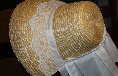 Bonnet d'été second empire - Civil war summer bonnet