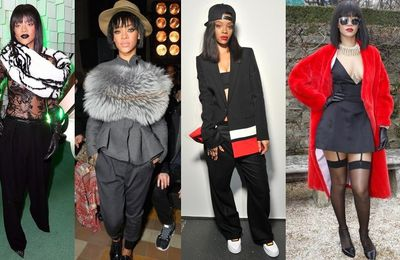 Rihanna lors de la fashion week parisienne