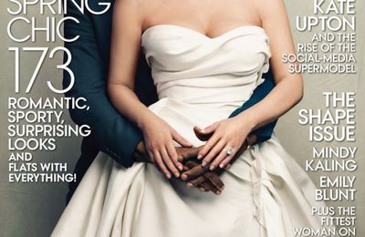 Kim Kardashian et Kanye West en couverture de Vogue