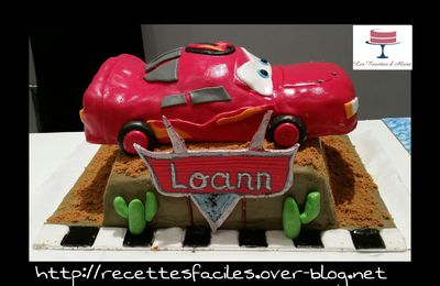 Gâteau Flash McQueen Cars