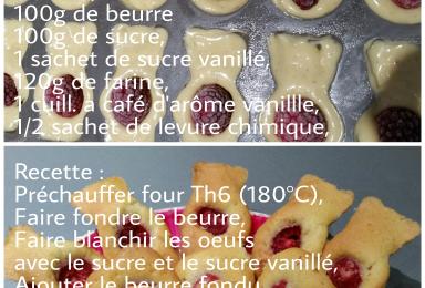 Mini cakes vanille framboises