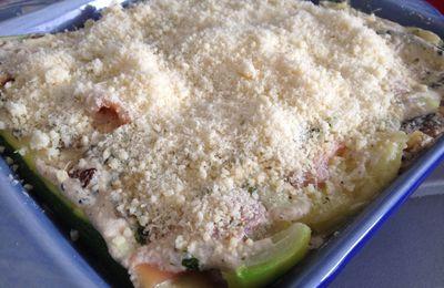 Lasagnes de courgettes au saumon fumé