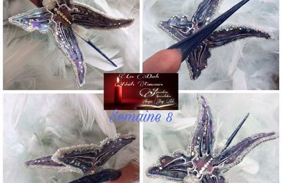 ongle forme papillon