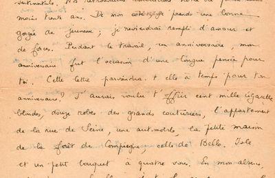 """""""Nos retrouvailles embelliront notre vie pour au moins trente ans"""". Lettre de Desnos à Youki. 15 juillet 1944"""