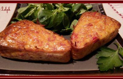 Clafoutis de poivron rouge et jambon fumé